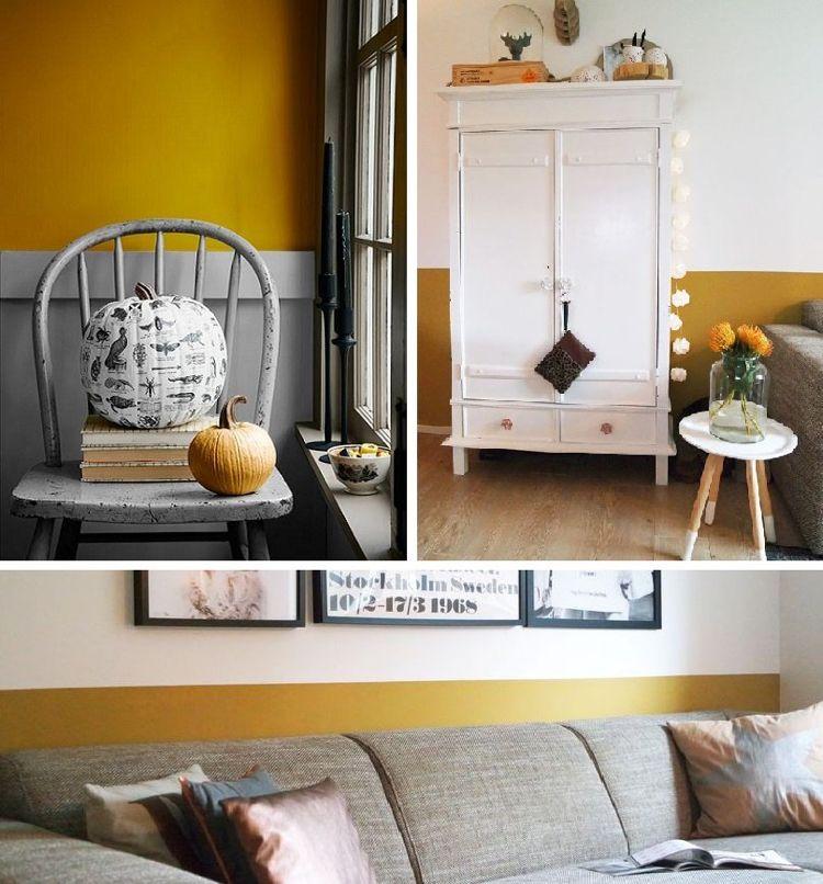 Farbe Ocker kombinieren \u2013 Goldocker Farbe des Jahres 2016 im - farbe puderrosa kombinieren wohnen