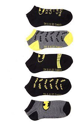 Batman Keep Calm No-Show Socks 5 Pair