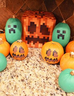 minecraft halloween party pumpkin decorations