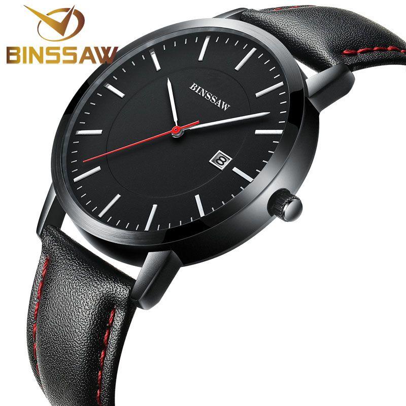US  52.70 - BINSSAW Men Watches Top Brand Luxury Men s Quartz Wrist Watch  Waterproof Sport Military Watch Men Leather Reloj Hombre Clock Men f60cdd9965b6