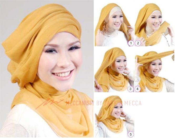 Tutorial Hijab Zaskia Adya Mecca Hijab Tutorial Tutorial Hijab Segitiga Hijab Style Tutorial