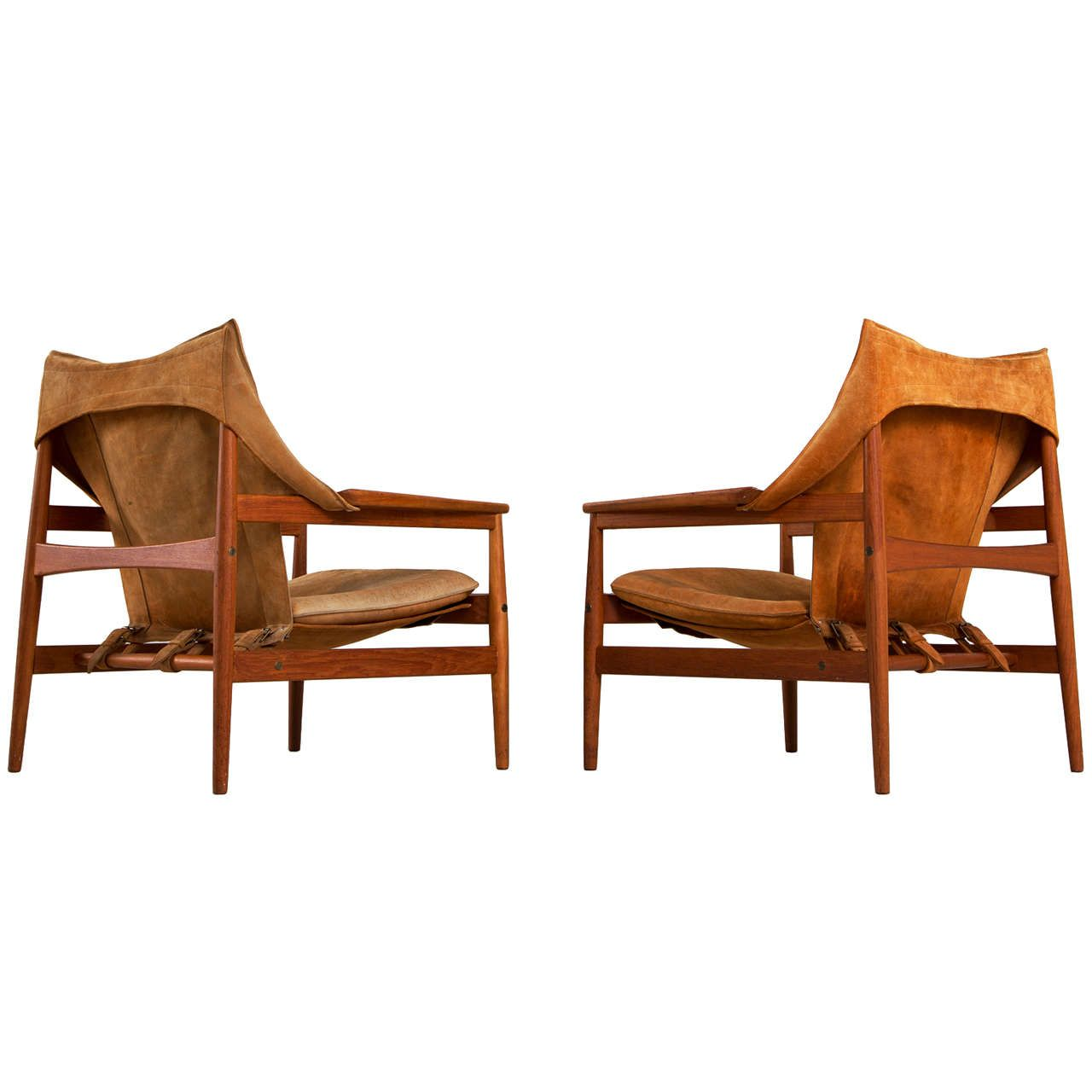 Antique lounge chairs - Extremely Rare Safari Chairs By Hans Olsen