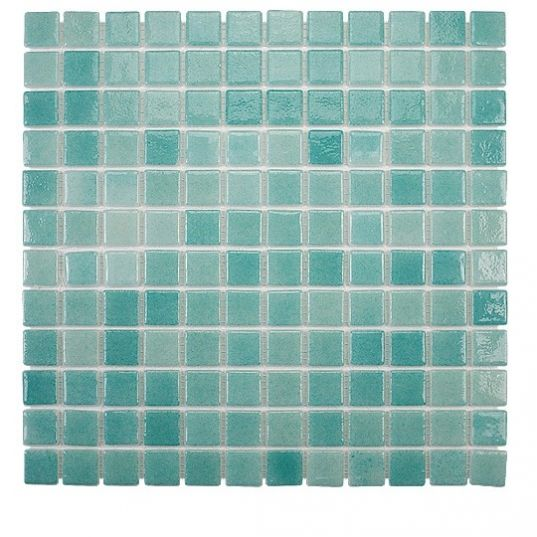 Carrelage Mosaique En Emaux Pate De Verre Bruma Vert Turquoise 31 6x31 6cm Tile Floor Flooring Texture