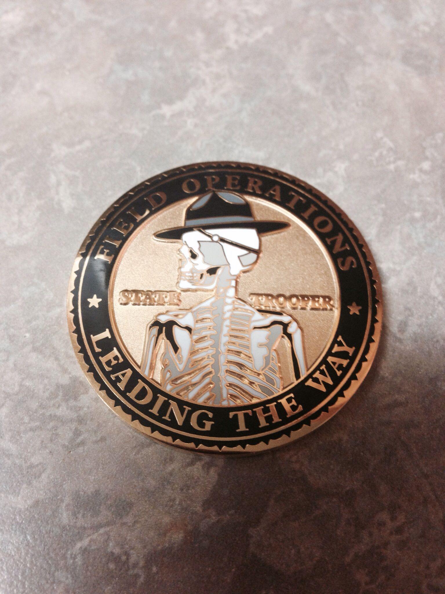 Oklahoma Highway Patrol Challenge Coin