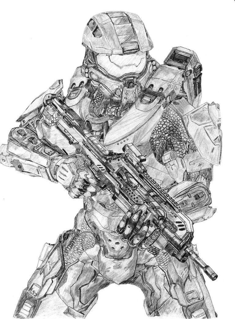 halo drawings halo armor halo master