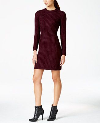 7f7497a4f12 Macy s Exclusive Calvin Klein Petite Cable-Knit Sweater Dress - Dresses -  Women - Macy s