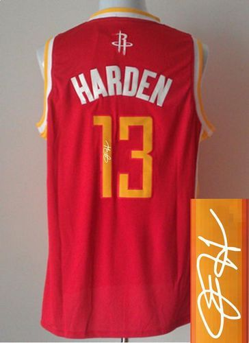Revolution 30 Autographed Rockets  13 James Harden Red Alternate Stitched  NBA Jersey eb8e8bea9