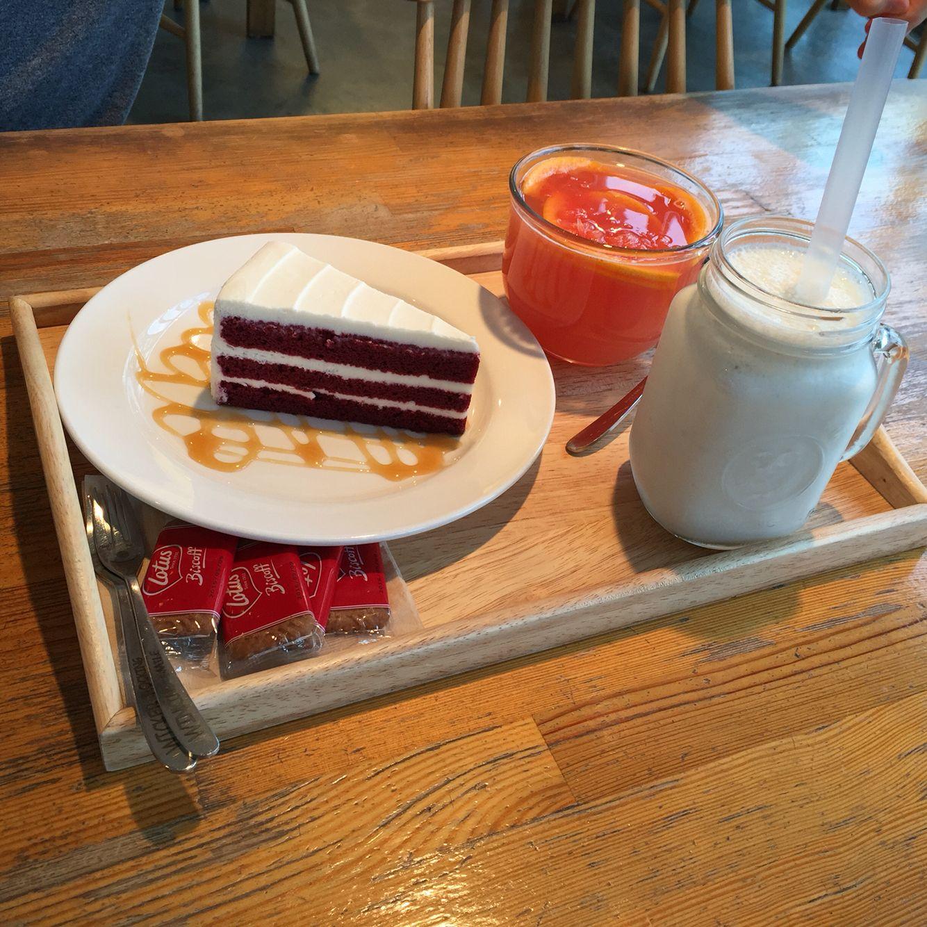 내가 좋아하는 카페동네 마망갸또 레드벨벳케익