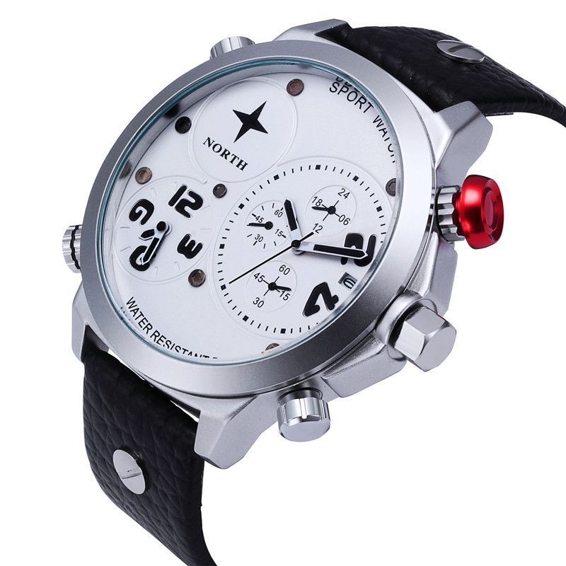 NORTH Waterproof 30M Sport Watch Men Watch Auto Date Fashion Military Watch  Mens Watches Hour relogio 00f358f1b5