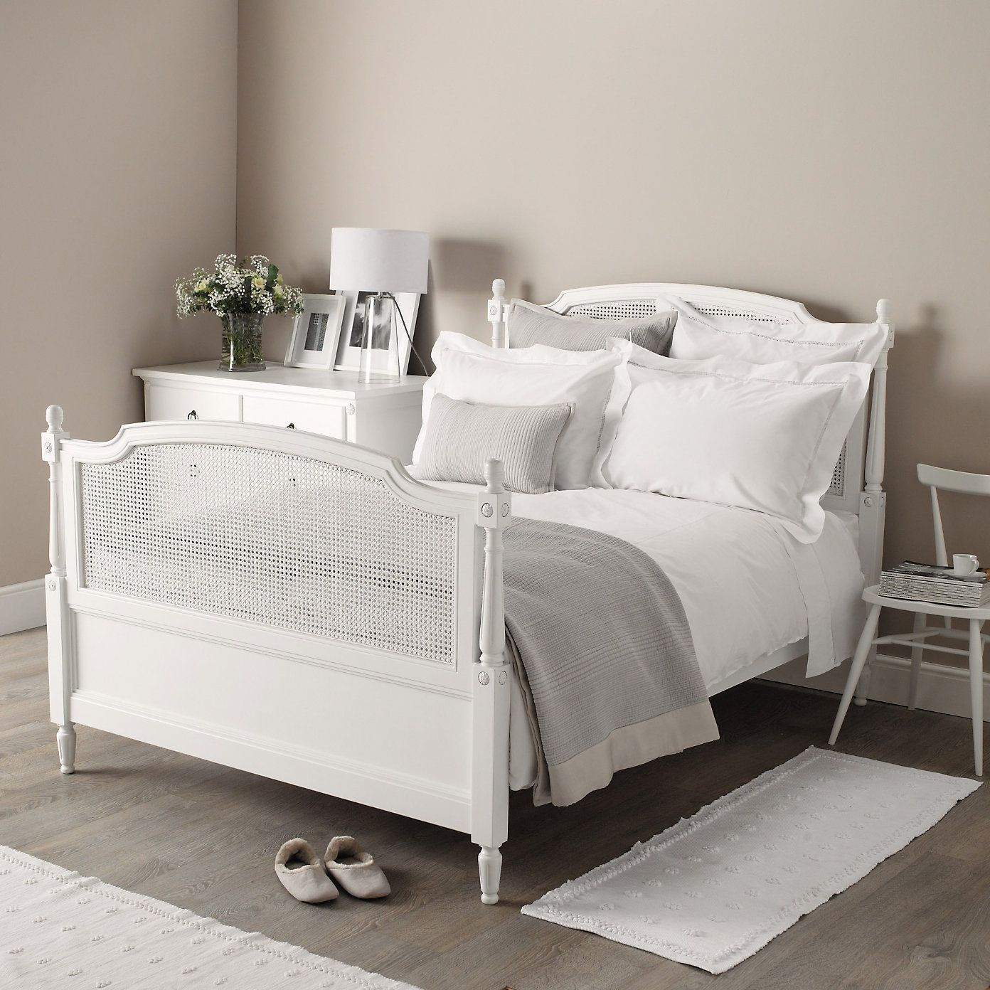 5 Bedroom Ideas For Autumn From The White Company: Florence Cane Bed - Beds