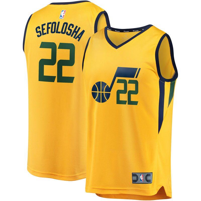 058e59532 Thabo Sefolosha Utah Jazz Fanatics Branded Fast Break Replica Player Jersey  Gold - Statement Edition