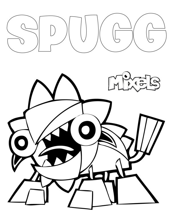 Mixels Coloring Page Jinky Coloring Pages Lego Party Coloring Sheets For Kids