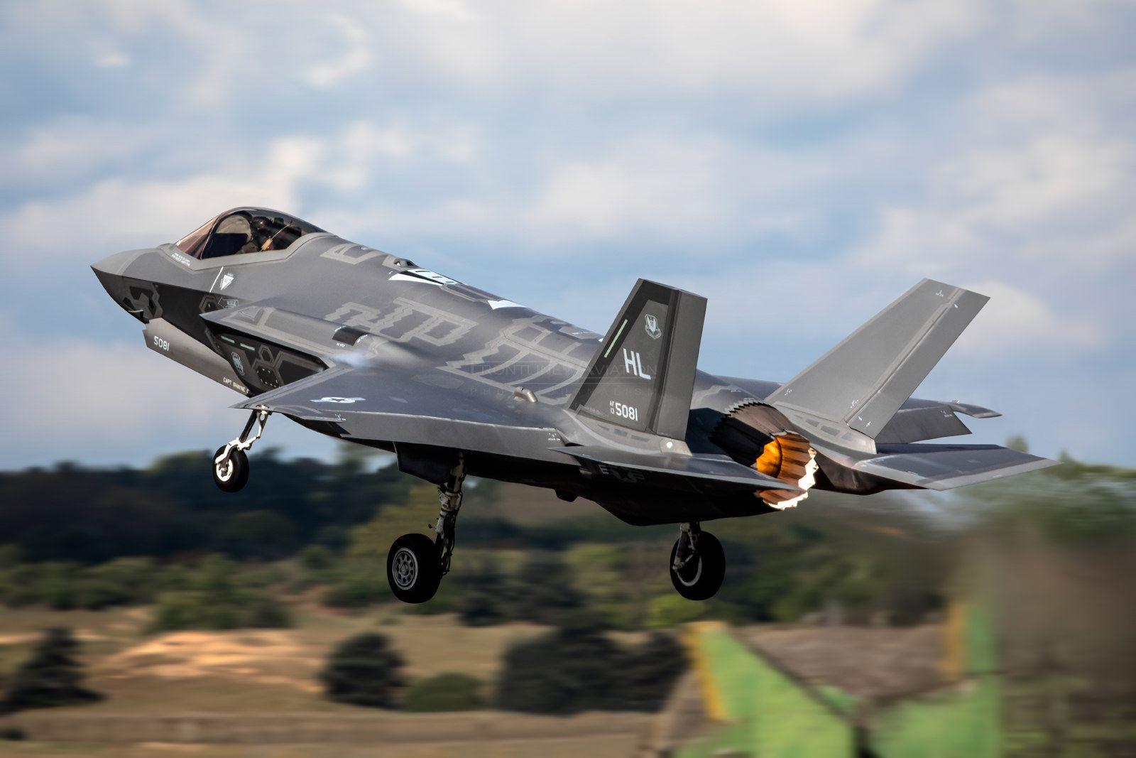 https://flic.kr/p/U7BBMF | 'Lightning Departure', F-35A Lightning II, 13-5081, 34th FS, 388FW, Hill AFB | RAF Lakenheath, Suffolk, United Kingdom