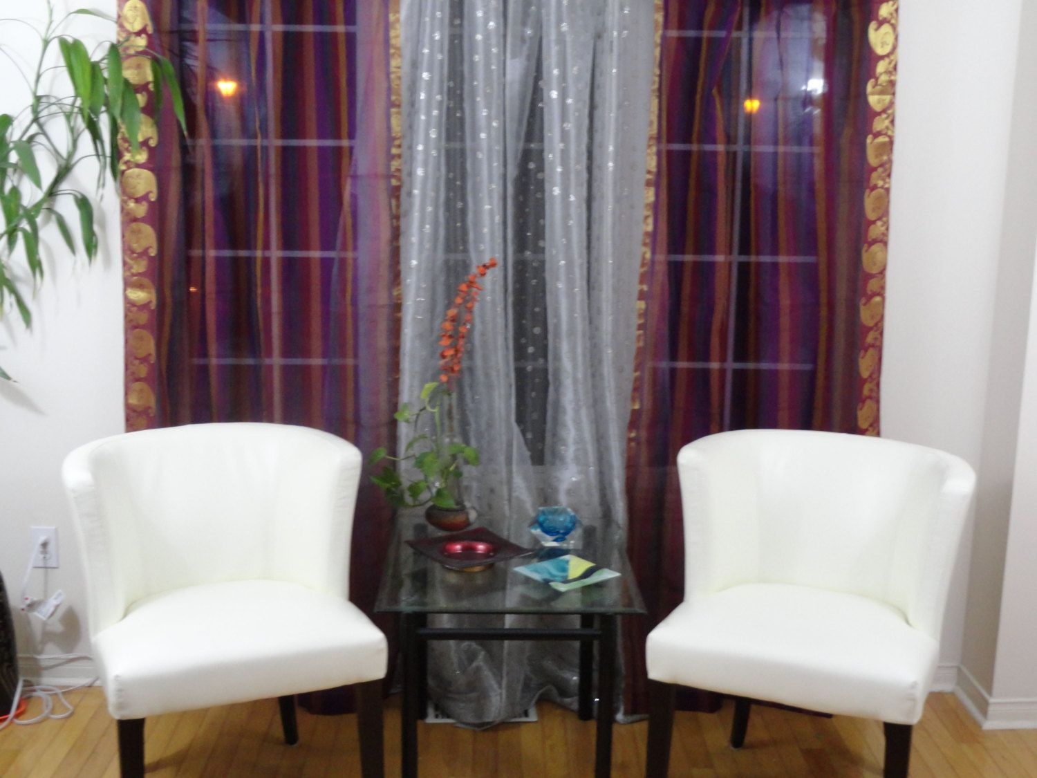 Indian curtains drapes - Wine Purple And Gold Indian Curtains French Window Curtains Drapes Or Valences Ethnic Home Decor Idea From Artikrti
