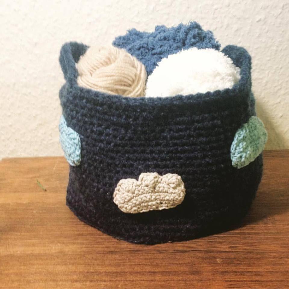 850302e7d3a0 Tricot  crochet knitting  panier nuage déco DIY laine sac rangement ...