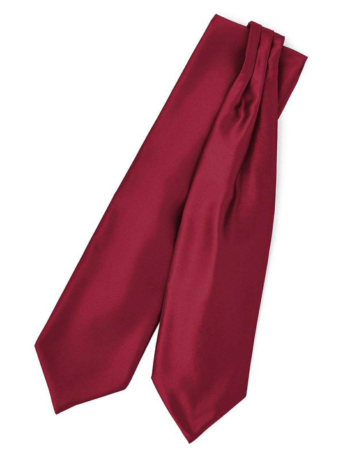 Mens Burgundy Red Satin Wedding Cravat