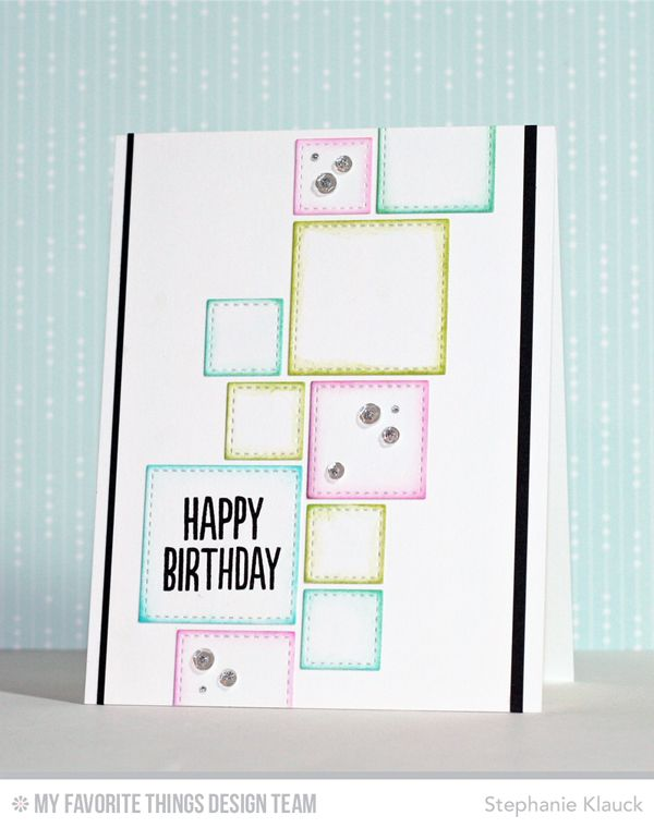 Photo Booth, Stitched Square STAX Die-namics - Stephanie Klauck   #mftstamps