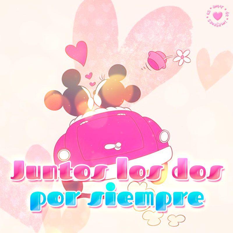 Linda Imagen De Mickey Y Minnie Con Corta Frase De Amor Amor De