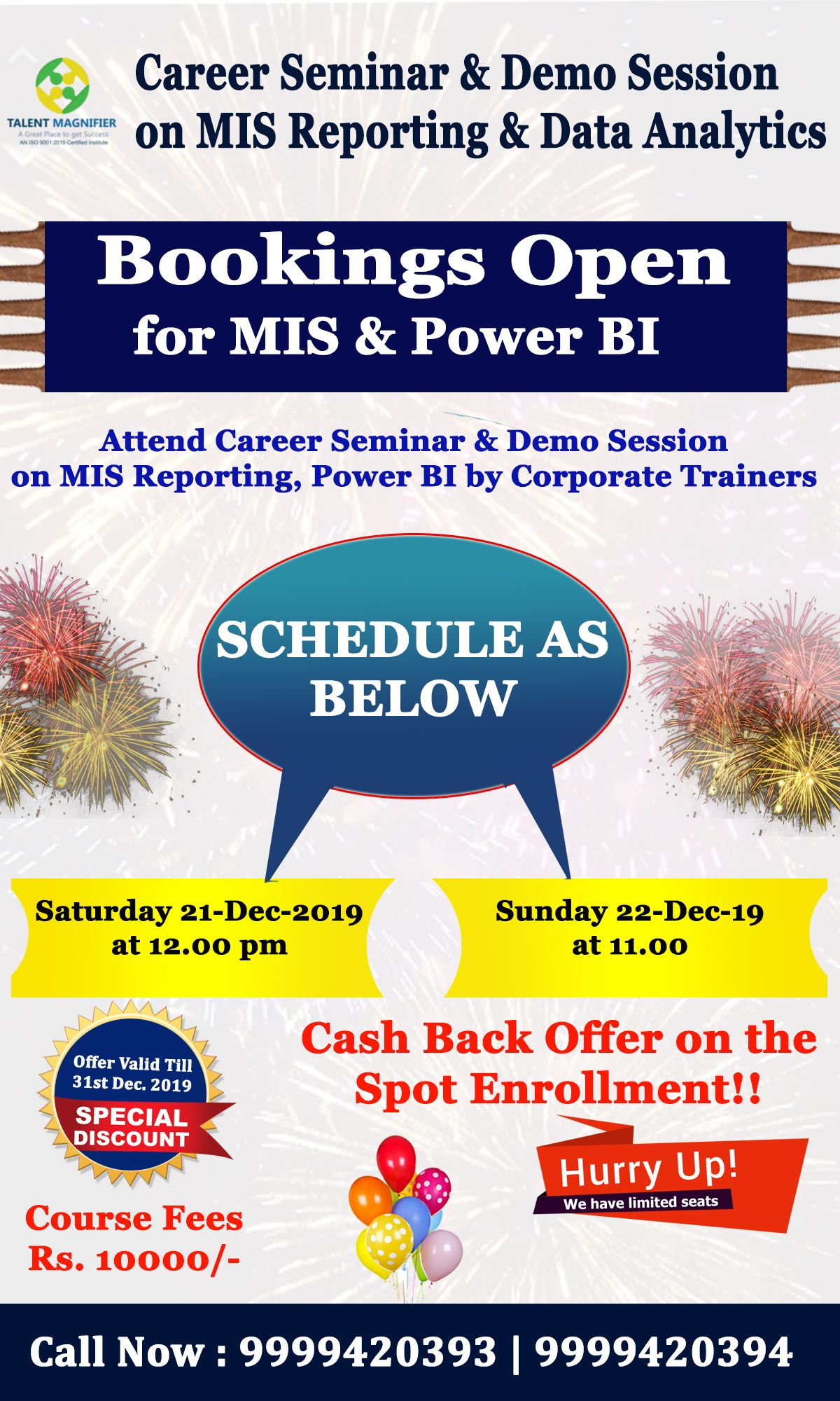 Attend Talent Magnifier's CareerSeminar & DemoSession on