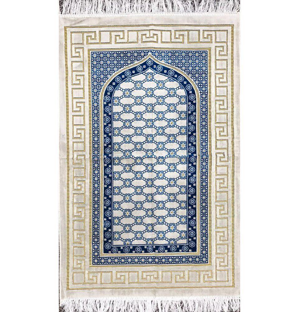 Amazon Com Prayer Rug Thin Velvet Namaz Sajadah Janamaz Floral