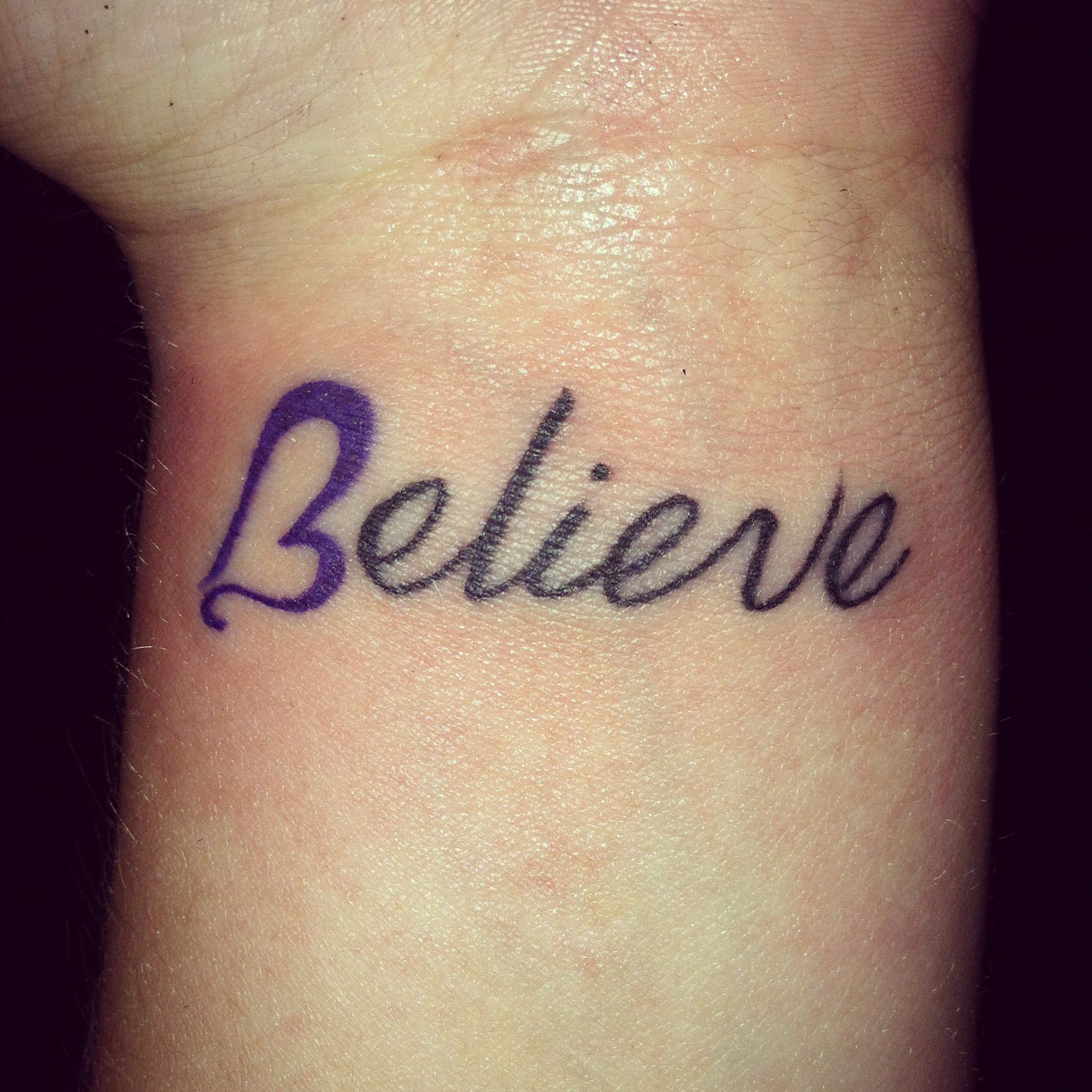 Believe with the B as a heart