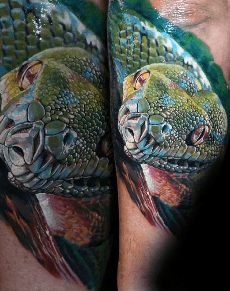 50 3d Snake Tattoo Designs For Men Reptile Ink Ideas Tattoos