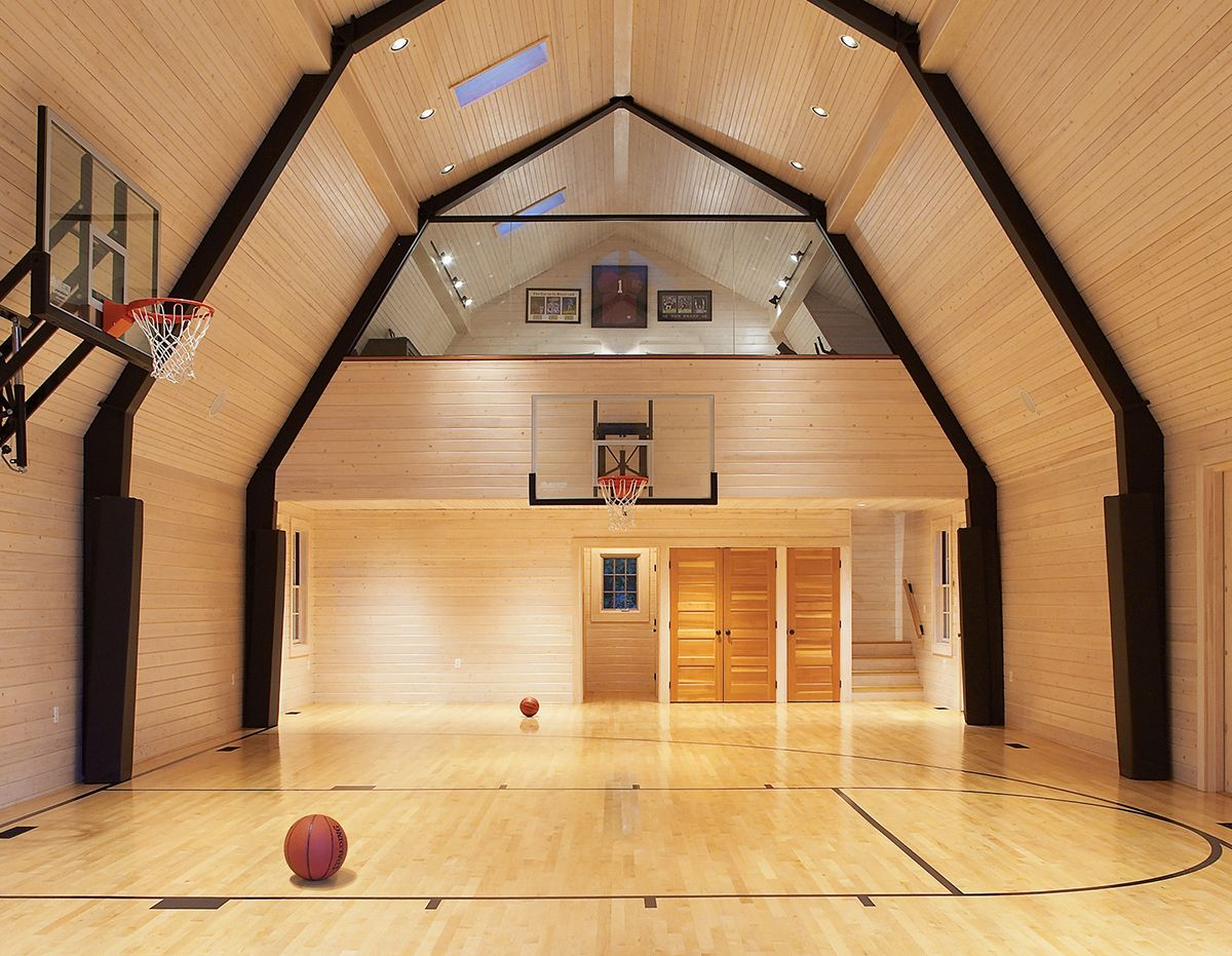 Holding Court Home Basketball Court Outdoor Basketball Court Steel Building Homes