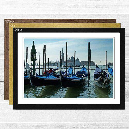 Photo of Big Box Art Framed Poster Venice Italy Gondolas, Photo Print | Wayfair.de