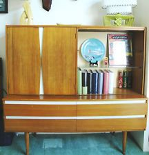 Mid Century Modern Danish Buffet Credenza Sideboard Cabinet Vintage 50s 60s RARE