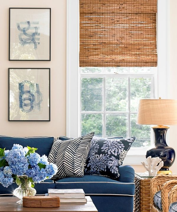 """This was a good example of the woven shades in a """"tortoise shell' color. Love the look ."""