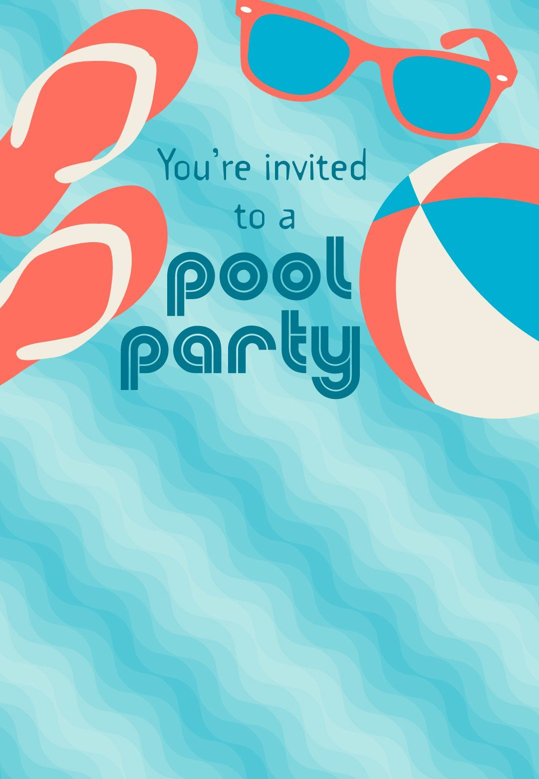 Pool Party Stuff Free Party Invitation Template Greetings Island