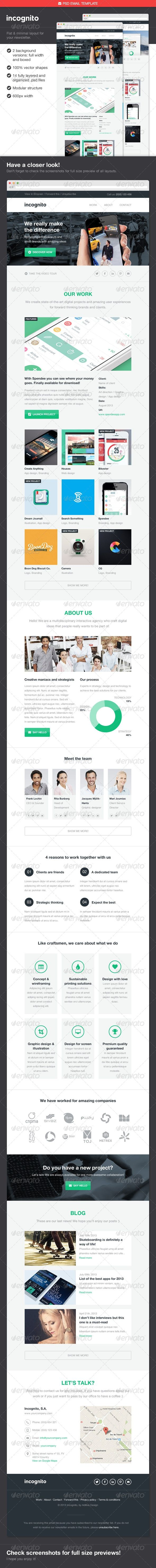 Incognito Psd Email Template Affiliate Psd Ad Incognito Template Email Email Templates Email Newsletter Design Computer Mockup
