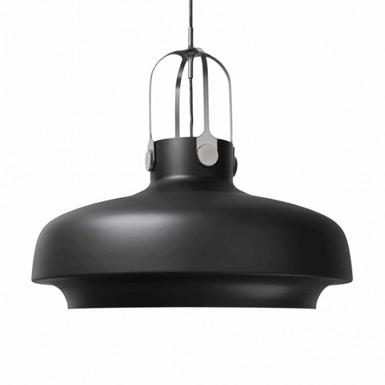 Suspension Inox/Noir Mat Ø60cm - COPENHAGEN Copenhagen and Spaces - gaine electrique pour exterieur