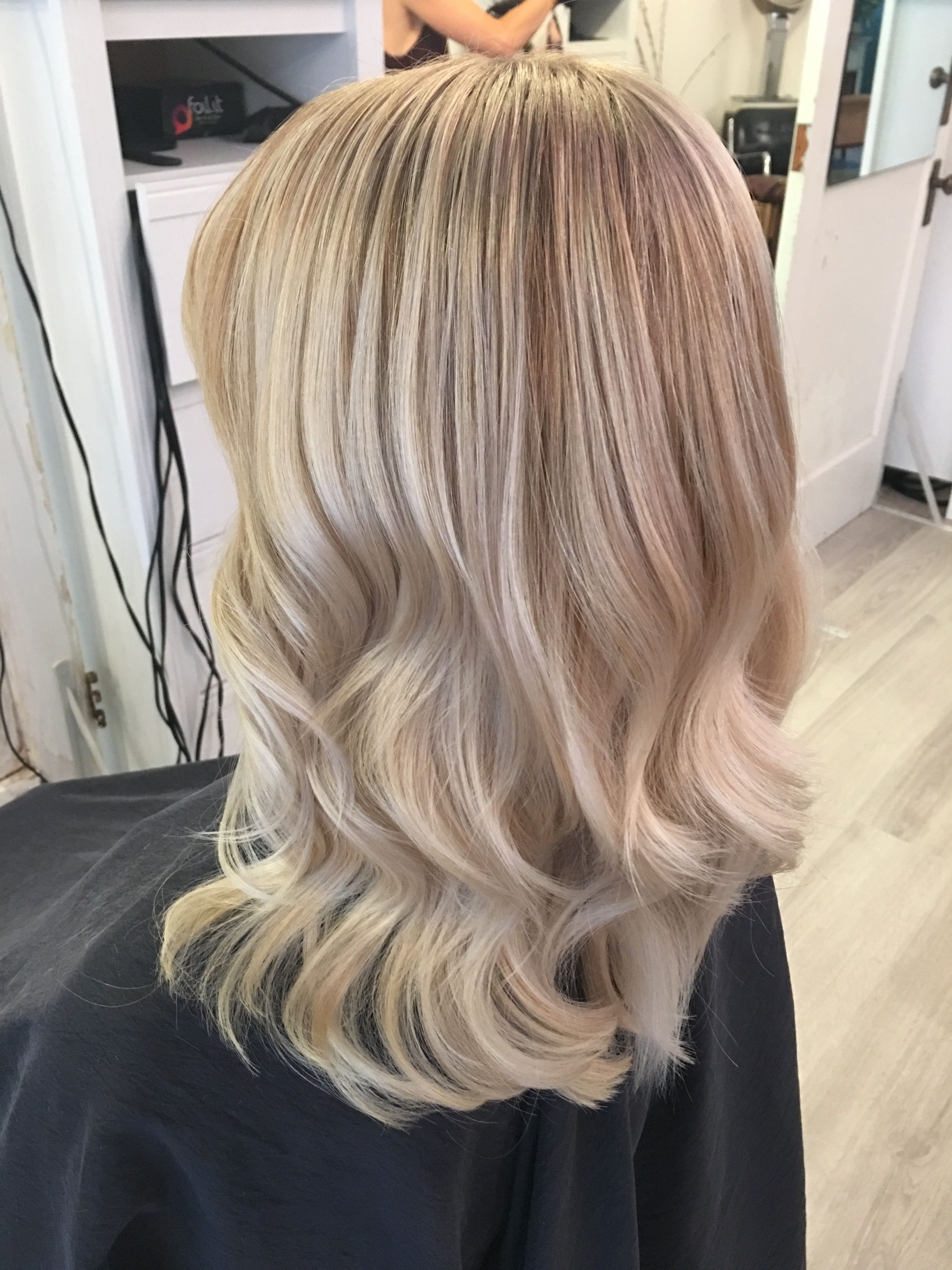 White Platinum Blonde Highlights Balayage New Hair Summer 2017