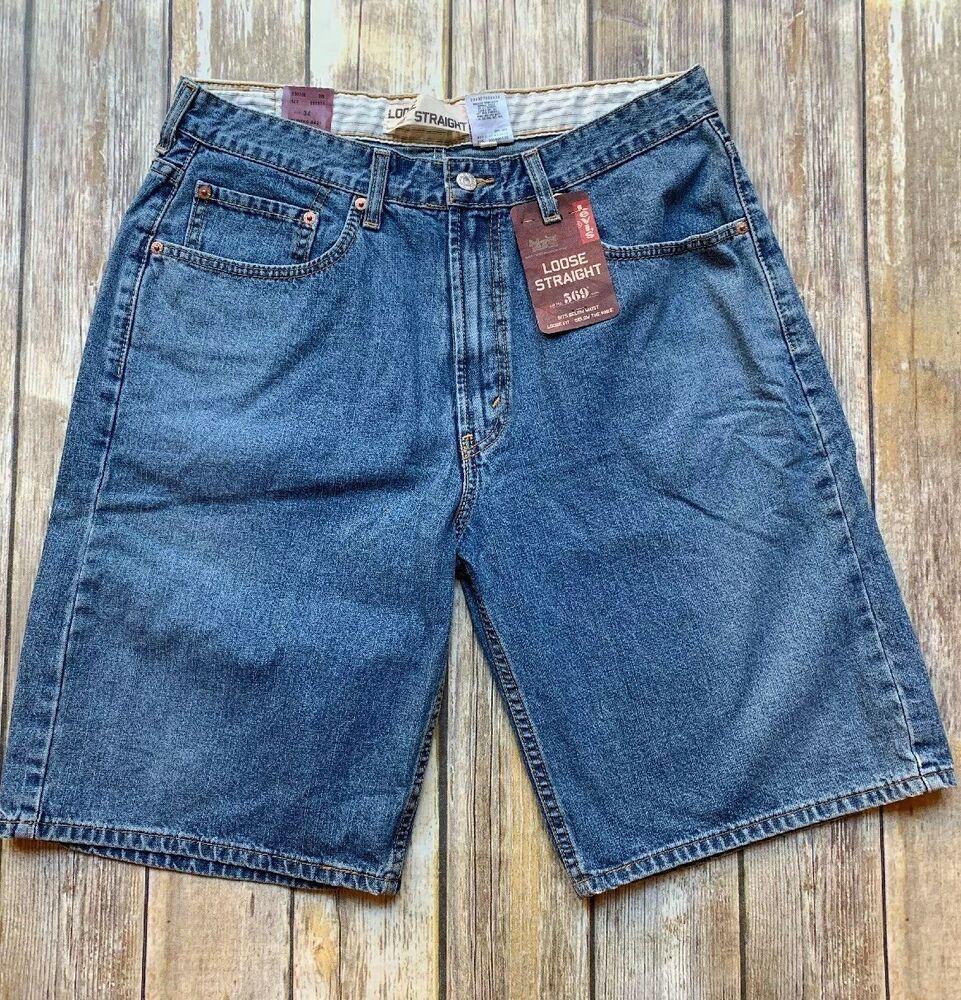 ba72f1dd (eBay Sponsored) Men's LEVI'S denim shorts Loose Straight Fit 569 34 x 10