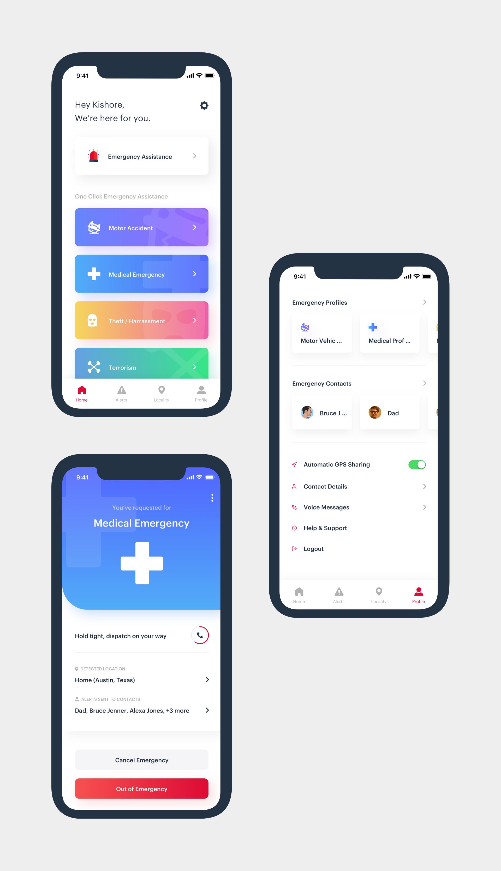 Day 203 Emergency Crisis Response App Concept