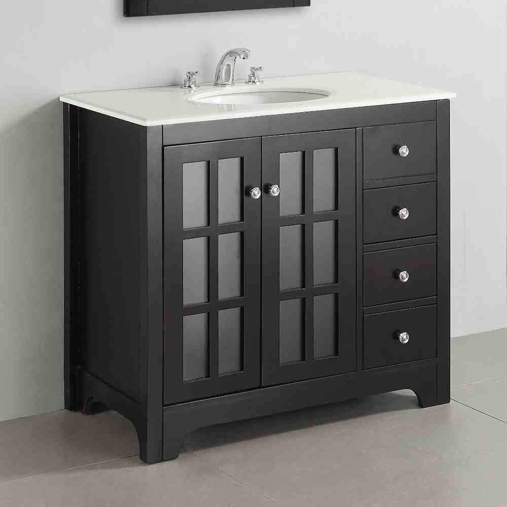Lowes Bathroom Vanity Cabinets  Wooden bathroom vanity, Furniture