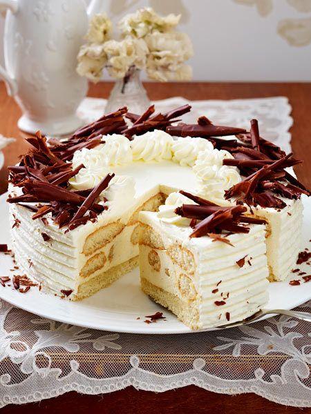 Malakofftorte Backen So Geht S Schritt Fur Schritt Lecker Torte Ohne Backen Torten Rezepte Kuchen Und Torten