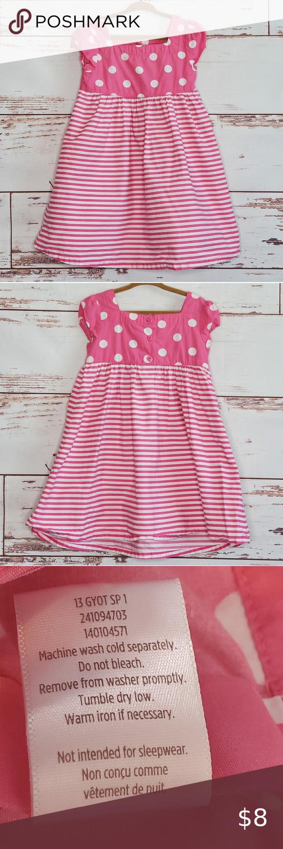 Gymboree Cotton Dress Pink Striped 4t Pink Dress Cotton Dresses Cotton Sundress [ 1740 x 580 Pixel ]