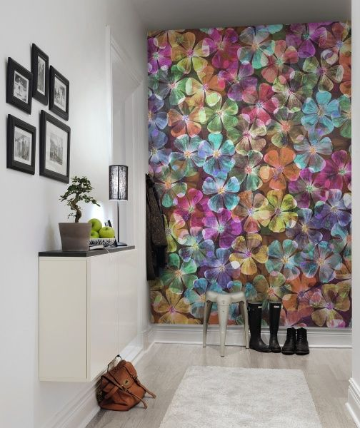 Big Bloom Walls Funky wallpaper and Living rooms