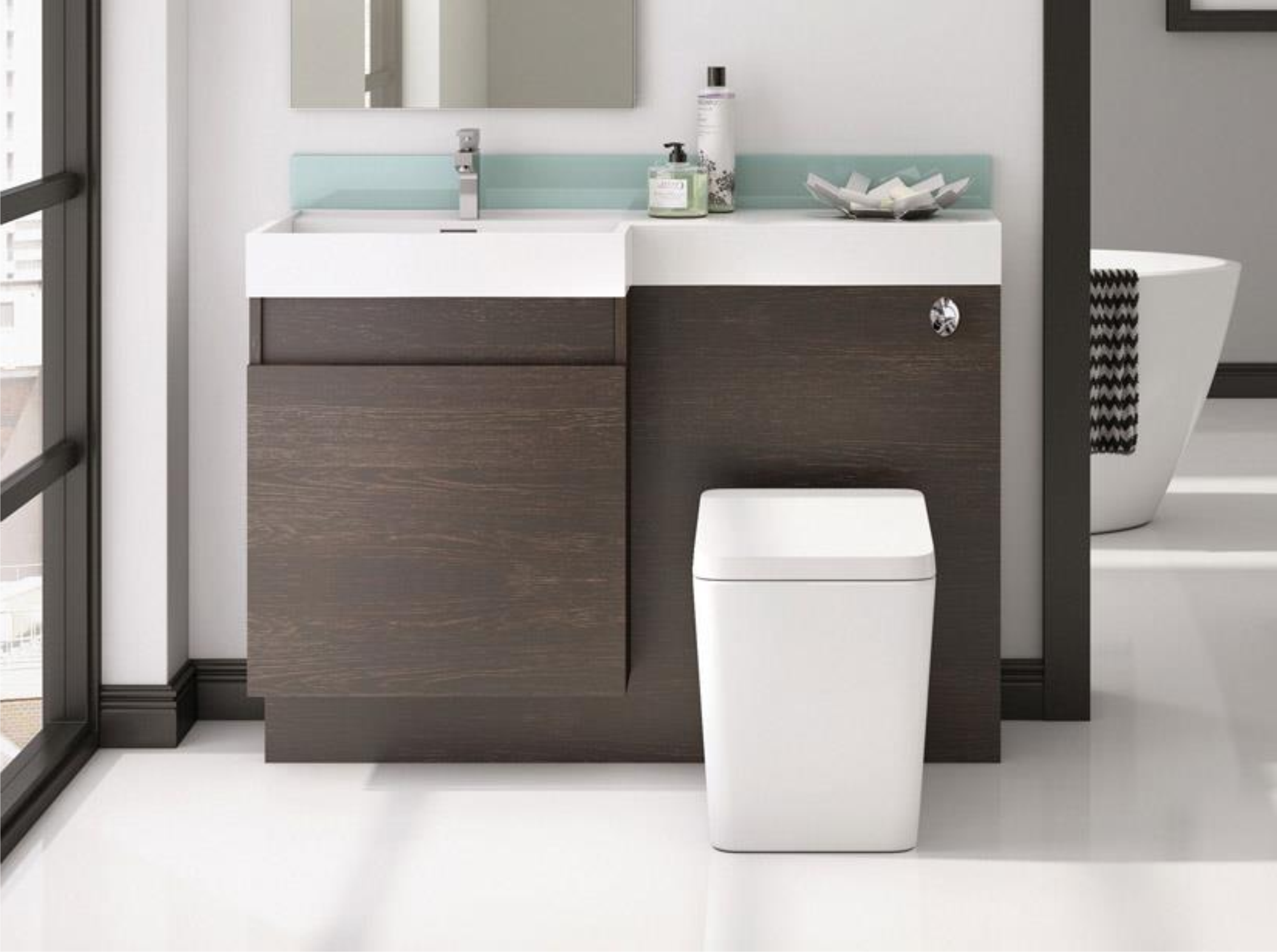 Cubico Airshire 1200mm Vanity Wc Unit With Basin Left Hand