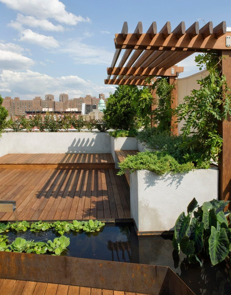 Cantilever Pergola Landscape Contemporary With Shade Trellis Modern Outdoor Pots And Planters