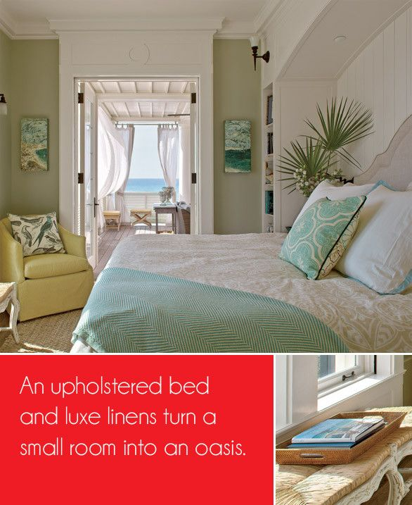 Very Colorful Bedroom: What A Pretty Beach Bedroom. Love The Subtle Aqua Color