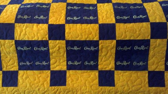 Amber's twin size Crown Royal quilt by LuluBelleQuilts on Etsy, $200.00