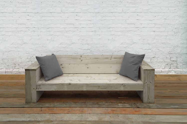 Garden Furniture Made From Scaffolding Planks lounge couch made of reclaimed scaffolding wood | upgraded