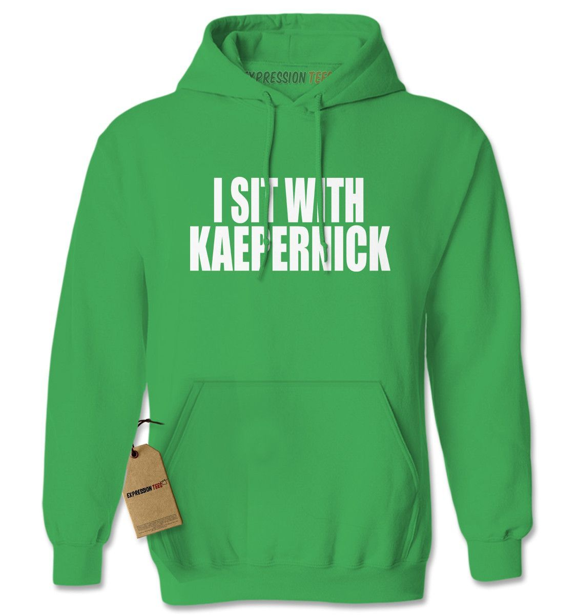 I Sit With Kaepernick National Anthem Adult Hoodie Sweatshirt