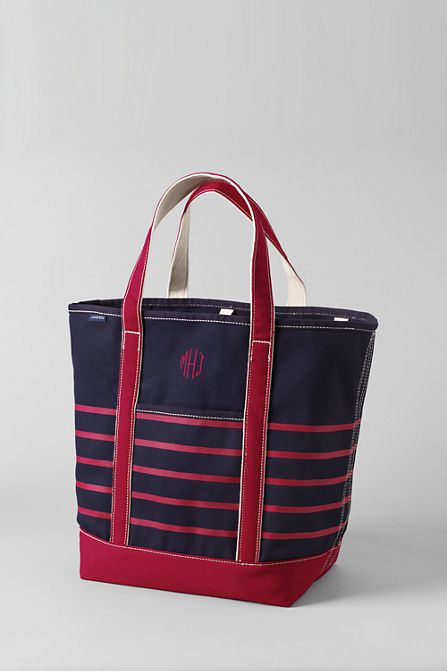 d7080ef8f690 Print Large Open Top Tote from Lands  End