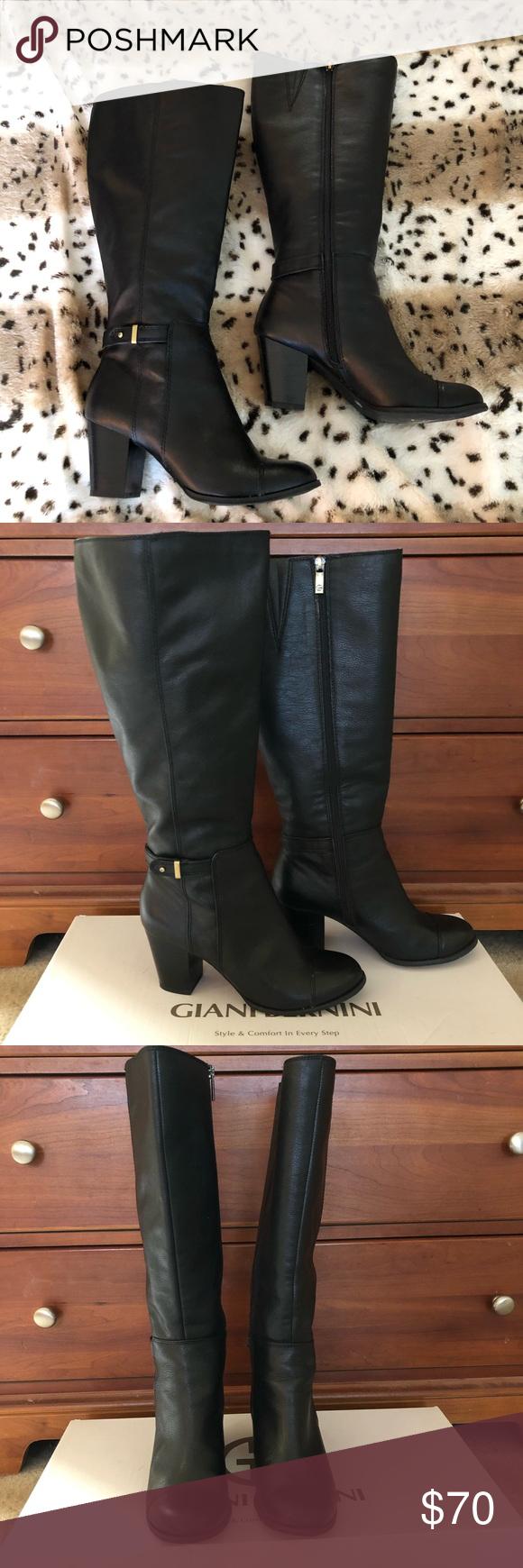 GIANI BERNINI High Heel Black Boots Sz 7.5 WC GIAN