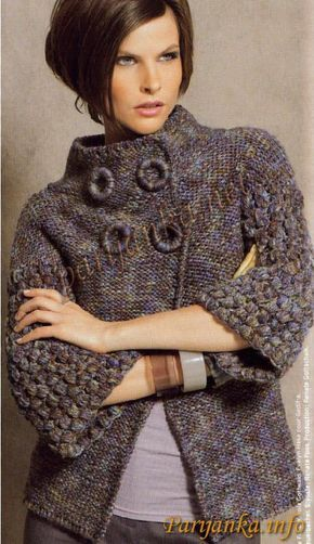 Abrigos a crochet para dama