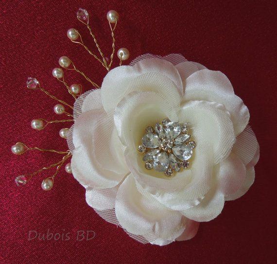 FREE Shipping  Wedding hair clip Bridal by DuboisBridalDesigns